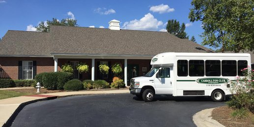Carrollton Club apartment homes exterior Bus
